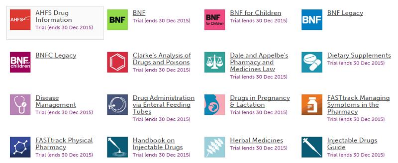 Medicines Complete藥學資料庫