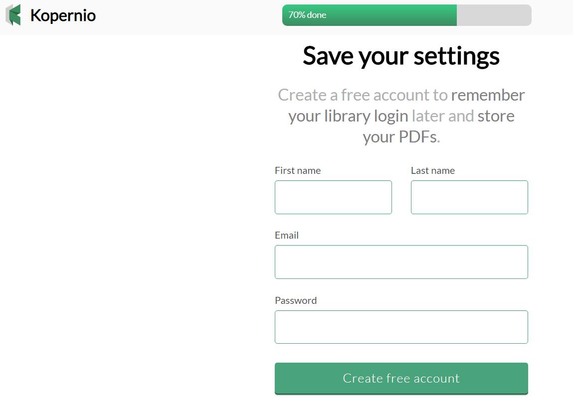 填寫註冊個人資訊,然後點選 Create free account。