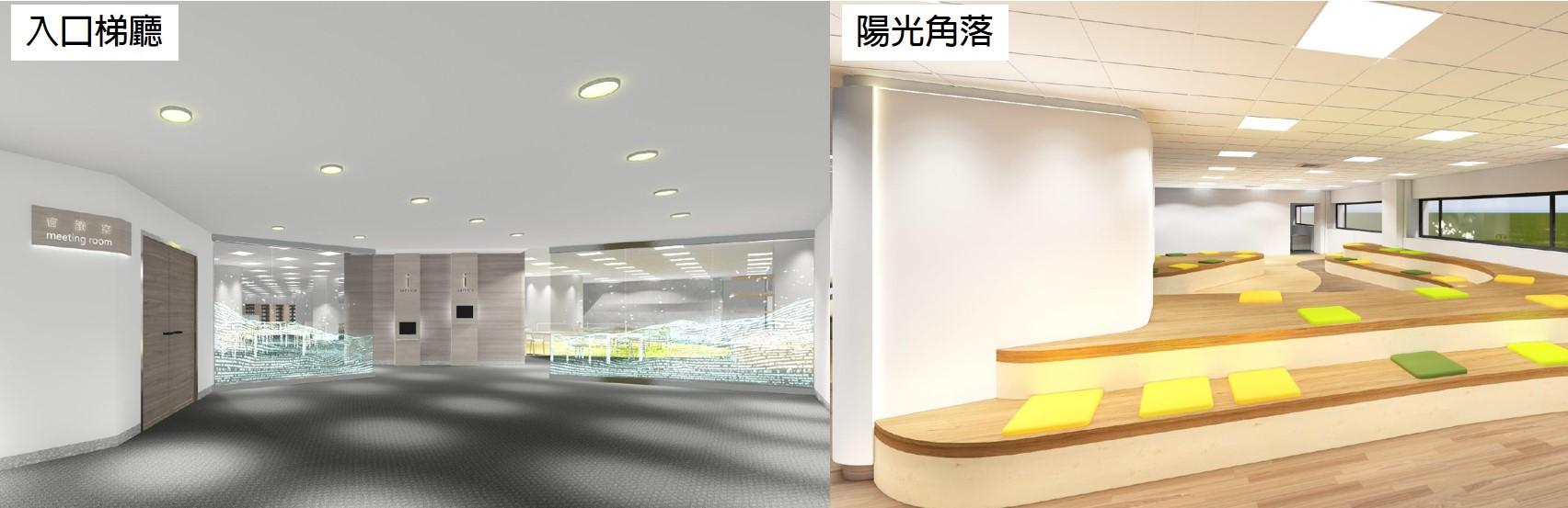 二期空改-3D示意圖-入口梯廳與陽光角落