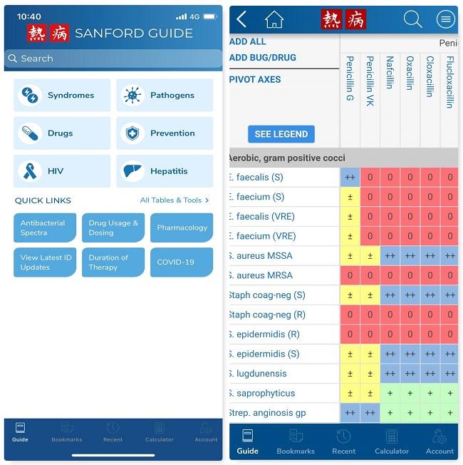 Sanford Guide App使用